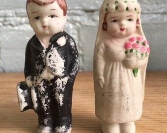 Vintage 1940's wedding cake topper