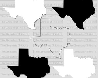 Texas State Map SVG PNG JPG Vector Graphic Clip Art