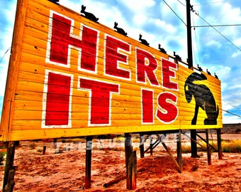 Here It Is!  Jack Rabbit Trading Post Route 66 Arizona