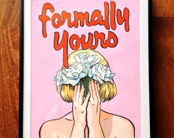 Formally Yours framed original painting
