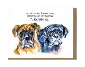 Boxer Dog Greeting Card for Dog Lovers