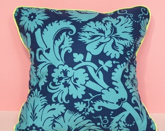 Cushion cover - printed geometric blue & turquoise