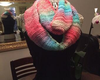 Pink Rainbow Infinity Scarf
