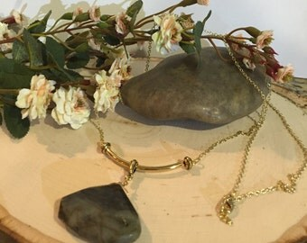 Jade Pendant Gold Chain Necklace