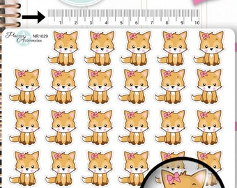 Fox Stickers,Fall Stickers,Woodland Stickers,Animal Stickers,Planner Stickers,Erin Condren,Functional Stickers NR1029