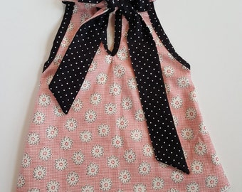 Dog Sleeveles Floral Keyhole Bowtie dress, Dog Clothes, Dog Dress, Puppy Clothes, Puppy Dress,Dog Floral Dress,Dog Summer Dress,Pet Clothes
