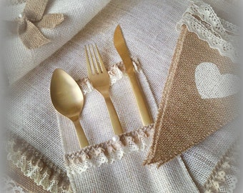 Placemat and Silverholders, Weedings Placemats.