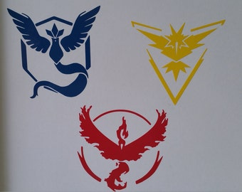Pokemon Go Decal / Sticker - Team Valor, Team Instinct, Team Mystic - your choice
