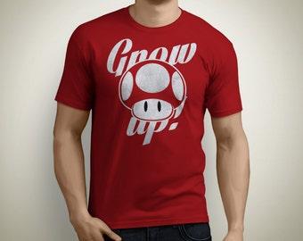 Grow Up! - Super Mario Mushroom T-Shirt