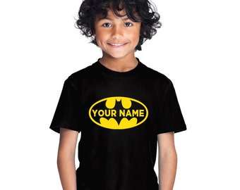 Personalised Batman kid's t-shirt