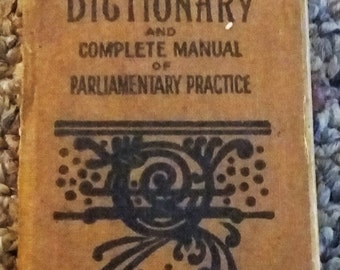 Donohue's Vest Pocket Dictionary & Parliamentary Practices - 1901