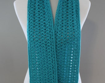 Blue Mint Crochet Scarf, Winter Scarf, Winter Fashion, Neckwarmer
