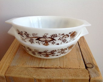 Milk glass dishes, vintage kitchen bowls, casserole dishes, Pyrex made in England
