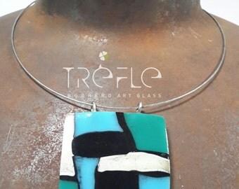 Mosaic necklace pendant