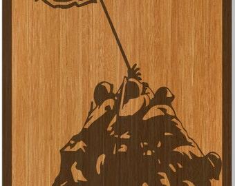 Flag Raise of Iwa Jima Wood Cornhole Wrap Bag Toss Decal Baggo Skin Sticker Wraps