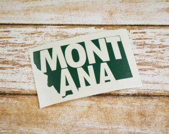 Montana State Decal, MT Decal, Yeti Decal, Car Decal, State Pride, Macbook Decal, Montana Decal, Montana Sticker, Laptop Decal, Yeti Decal