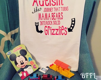 Autism Mom Grizzly Shirt