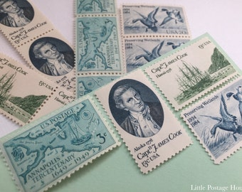 Old Nautical | Vintage Unused Postage Stamps | For 5 Letters | 49 Cents