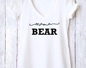 Mama Bear Tee, Mama Bear Shirt, Graphic Tee, Custom Tee Shirt, Mothers Day Shirt, Tumblr Shirt, Womens Tee, Funny Mom Shirt, Mom to Be, MBTS
