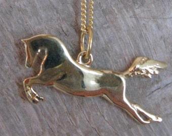 Pendant - Horse mythological - elegant - lovely - romantic - vermeil