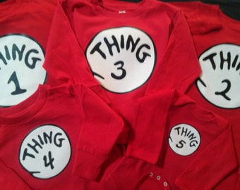 THING 1 THING 2  short sleeve t shirts, long sleeve, infant, toddler and ladies cut too THING T Shirt