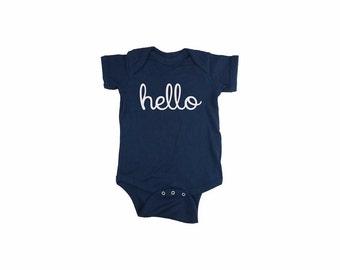Cute Newborn Onesie, Funny Newborn Onesie, Baby Shower Gift Onesie, Hello Creeper, Hello Bodysuit, Newborn 6 12 18 24 months, gift idea