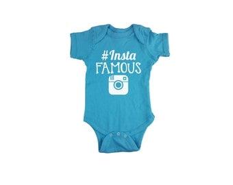 Instafamous Onesie, Cute Instagram Onesie, Instagram Baby Onesie, Hashtag Onesie, #Instafamous onesie, insta-famous onesie creeper bodysuit