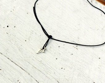 Dagger 'Stileto' sterling silver necklace. Simple for everyday wear.