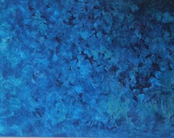 125cm x 64cm 50 Shades of Blue Original Painting