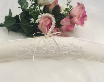 Bridal Gown Hanger, Lace Dress Hanger, Wedding Dress Hanger, Embroidered Silk Hanger, Bridal Gift