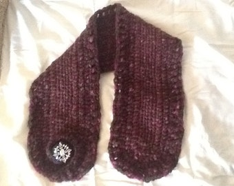 Hand crafted cowl neck scarf