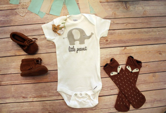 Little Peanut Baby esie Boho Baby Clothes by BittyandBoho