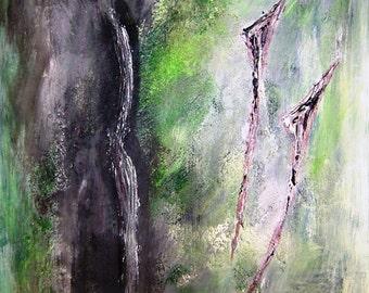 Sombras - shadow, acrylic on board, 30 x 40 cm, abstract