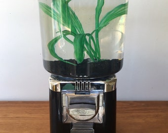 Repurposed Fish Tank Gumball Machine