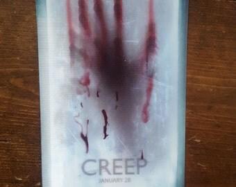 The Creep horror film hologram postcard - very rare.