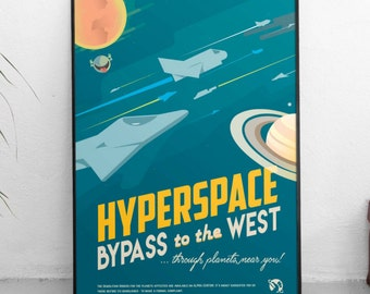 Hitchhikers guide to the galaxy Vogon Bypass | Douglas Adams | Book Poster |  Unframed
