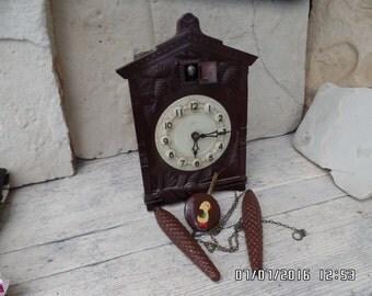 Vintage Majak Cuckoo Clock USSR Wall Clock with Weights Pendulum Retro Cuckoo Clock Russian