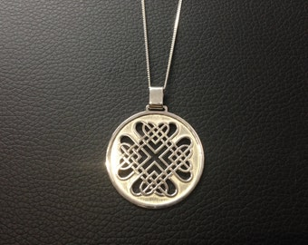 Celtic Hearts Pendant - Sterling Silver