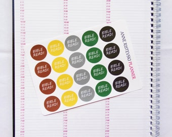Neutral Bible Stickers, Bible Stickers, Planner Stickers, Erin Condren Stickers, Happy Planner Stickers, Mambi Stickers, Functional Stickers