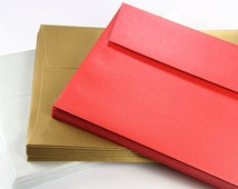 "25 - A9 Metallic Square Flap Envelopes (5 3/4 x 8 3/4"")"