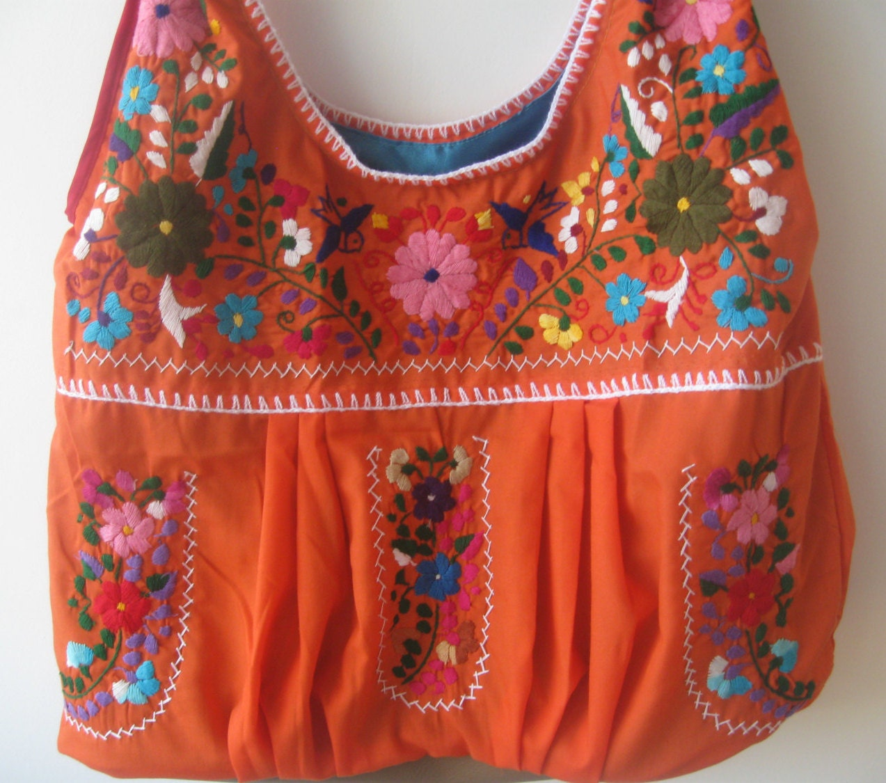 Mexican dress embroidered bag by