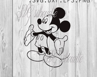 Mickey Mouse  SVG Cutting file, Vector Clipart, heat transfer vinyl design, Pattern, png, svg,  eps, dxf files for Silhouette, Cricut #5
