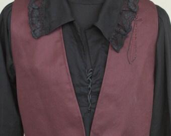 Medieval noble Vest,Rustic Pirate Vest, Men's Renaissance Vest, Victorian Vest,  Brown Vest