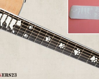 Cat's paw Fretboard Markers Stickers For Guitar decal vinyl