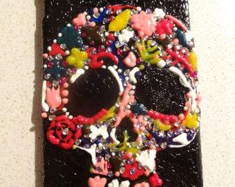 iPhone 6 plus hand-painted handmade skull cese