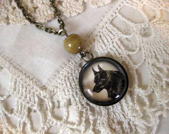 Schipperke pendant necklace