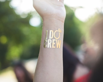 I DO CREW tattoos / set of 8 bachelorette party tattoos /  hen night tattoos / bride tattoo / stagette party / wedding party
