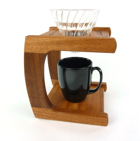 Sapele Wood Pour Over Coffee Stand