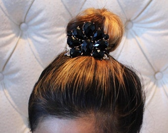 Black & Gold Bun pin