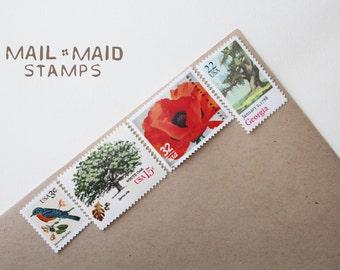 Georgia on my mind || Unused vintage postage stamps to mail 5 - 2 oz. letters